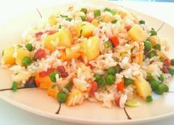 火腿洋芋豆焖饭