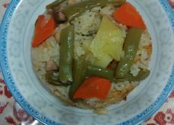五花肉时蔬焖米饭