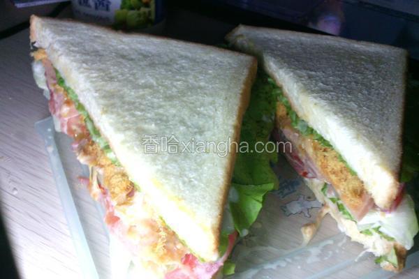 营养简易三明治