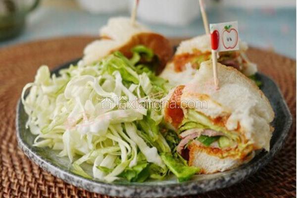 韩式培根三明治卷