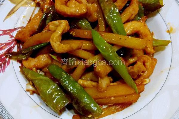 土豆杭椒炒肉条