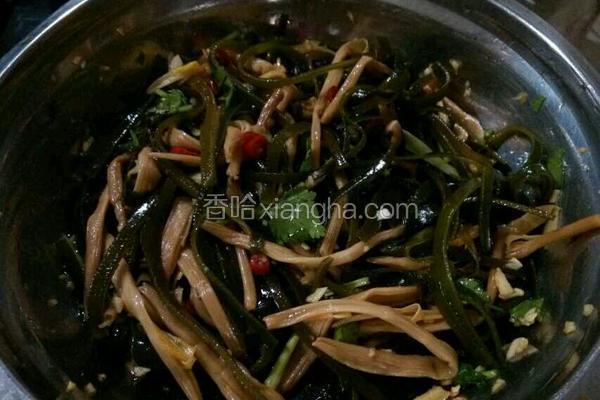 凉拌海带黄花菜