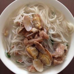 花蛤米粉汤的做法[图]