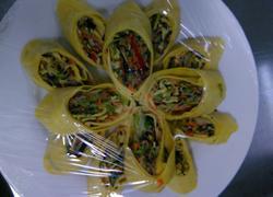 蛋皮蔬菜卷