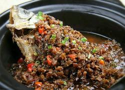 外婆菜煮鲫鱼