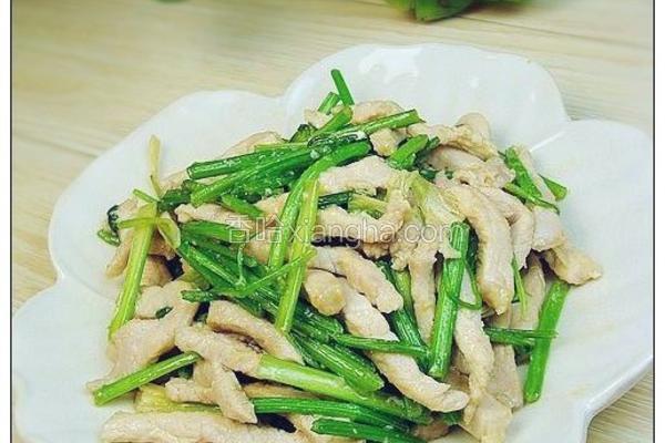 香菜炒肉丝