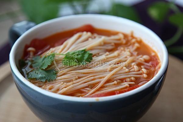 茄汁金针汤