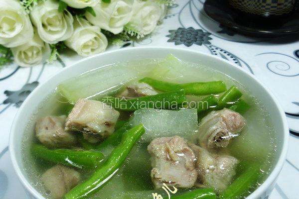 冬瓜梅豆排骨汤