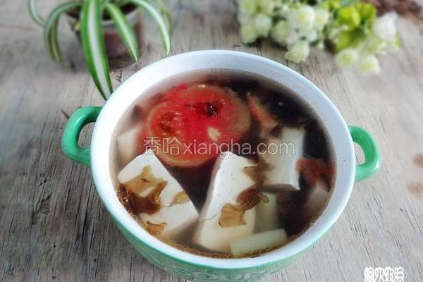 西红柿豆腐紫菜汤
