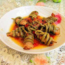 香焖豆角捆肉的做法[图]