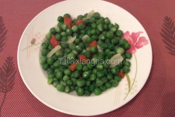微波炉版素炒豌豆