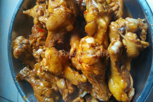 姜葱焖鸡腿