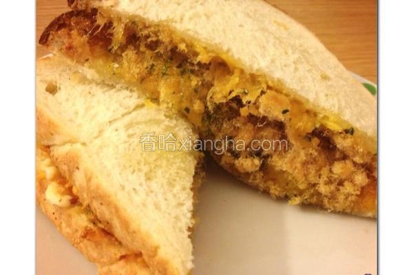 鱼松起司三明治