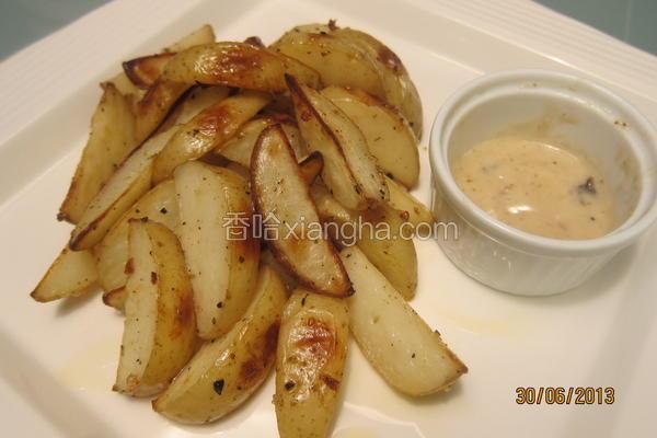 烤蒜味马铃薯块
