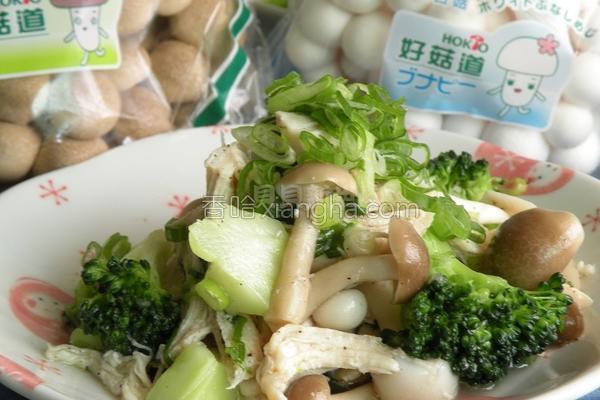 盐水菇菇鸡丝