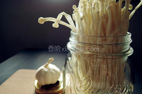 奶油蒜香金针菇