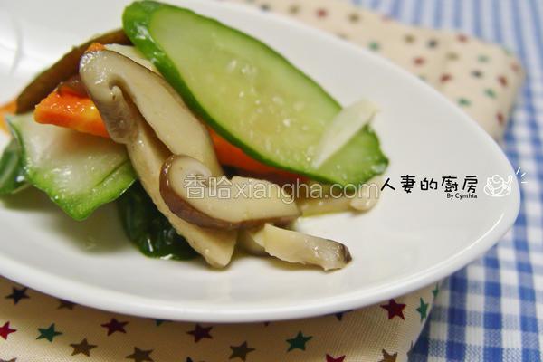 食蔬炒鲜菇