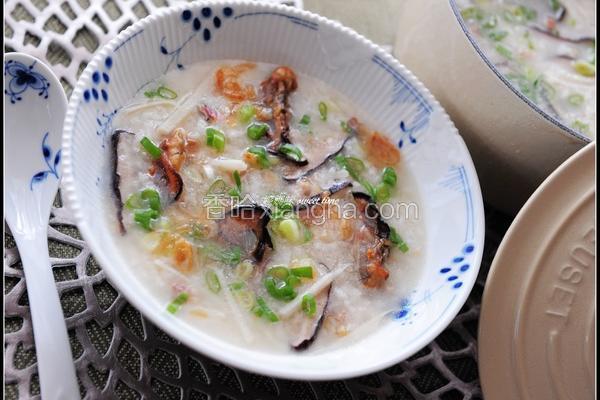 蚵干香菇粥