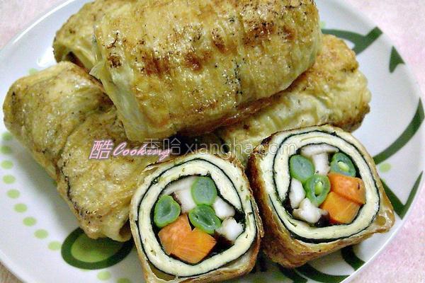 香煎豆包卷