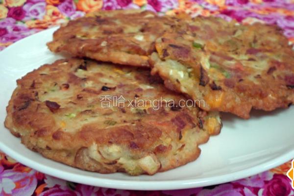 韩风鲜蔬培根煎饼