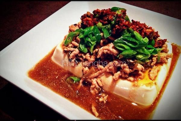 脆辣椒葱油豆腐