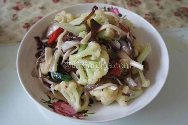 花椰菜炒舞茸菇