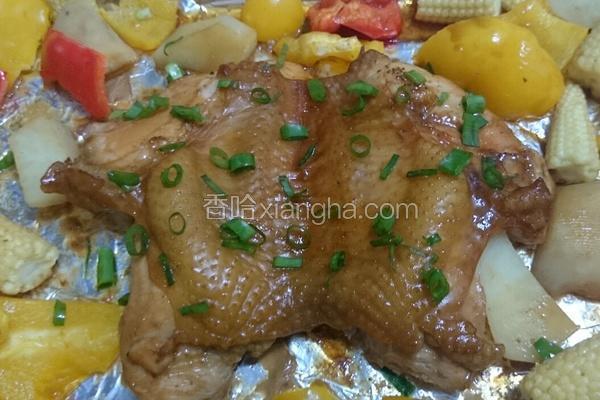 缤纷食蔬烤鸡