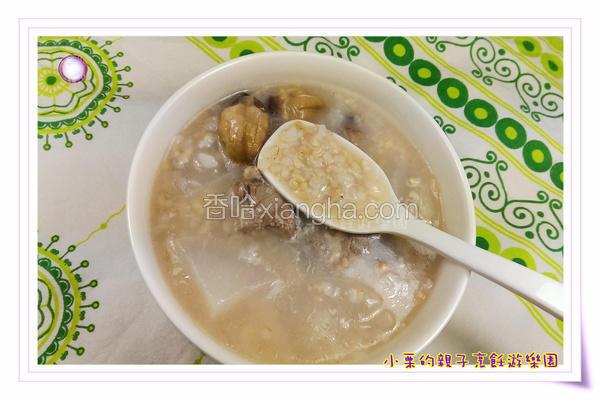 洛神糙米排骨粥