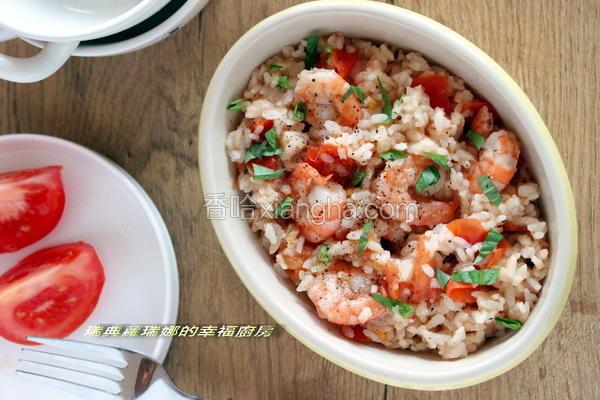 鲜虾萝勒番茄炖饭