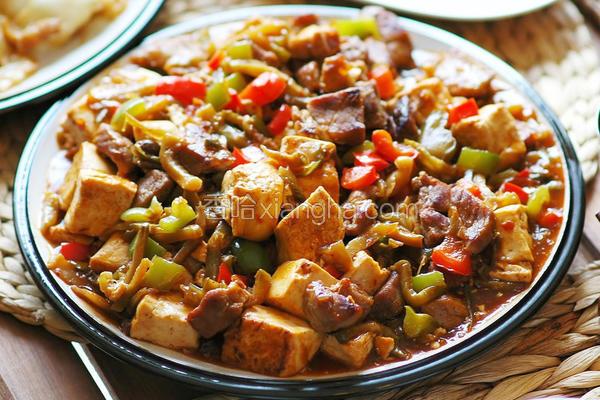 榨菜肉丁豆腐