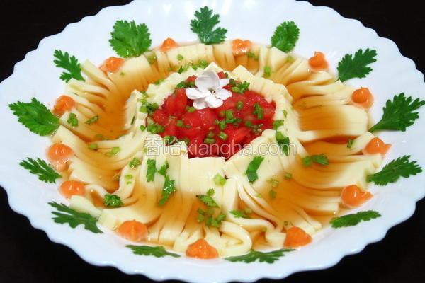 番茄冷豆腐面