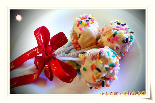 蛋糕酸奶棒棒糖的做法