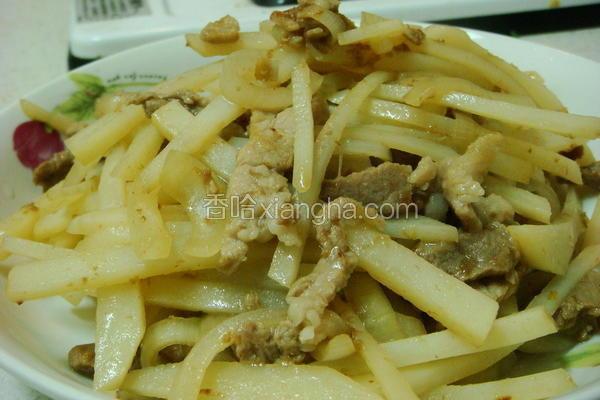 醋熘土豆肉丝