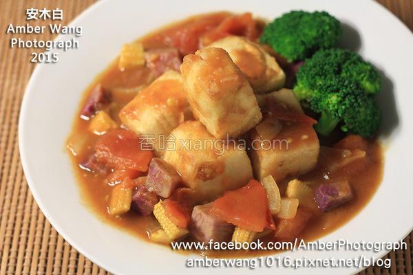 绿咖哩炸豆腐蔬食