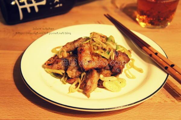盐麹猪五花炒蒜苗