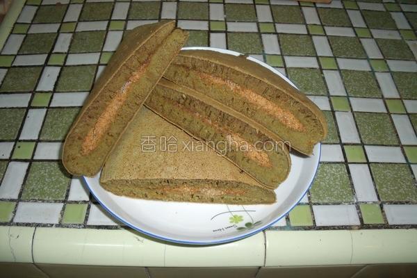 抺茶花生煎饼