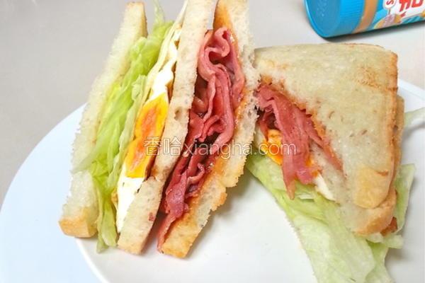 花生酱培根三明治