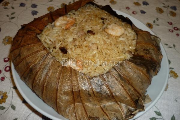 鲜虾荷叶饭