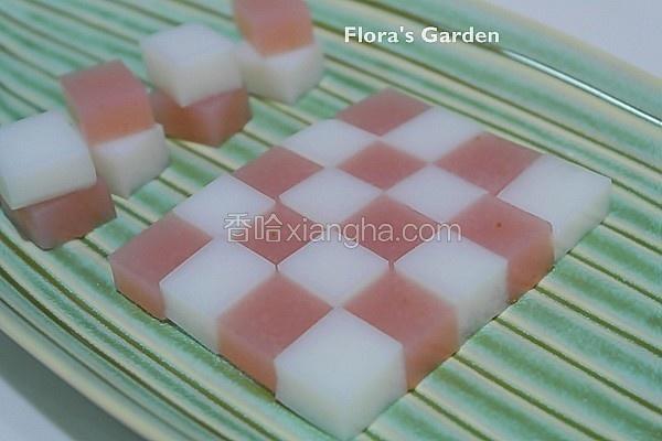 草莓炼乳果冻