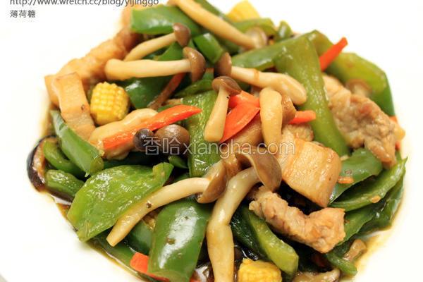 菇菇青椒炒肉丝