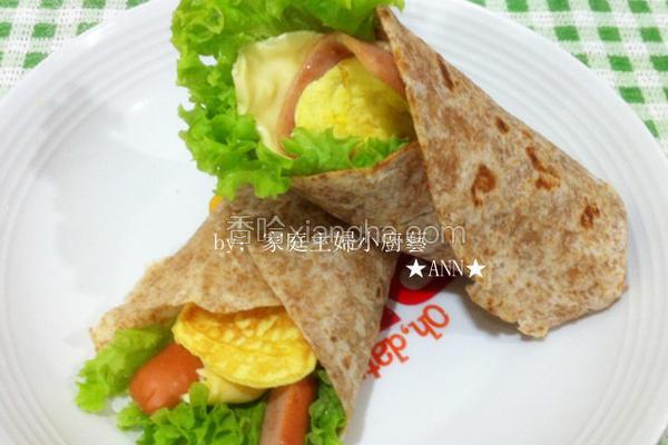 麦饼皮营养早餐卷
