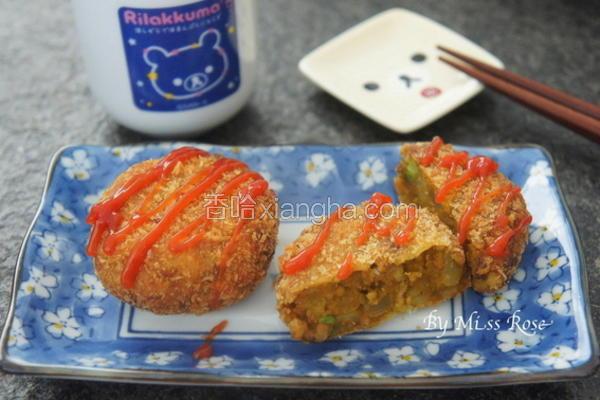 南瓜咖哩可乐饼
