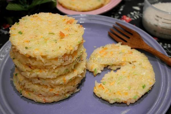 虾肉蔬菜煎米饼