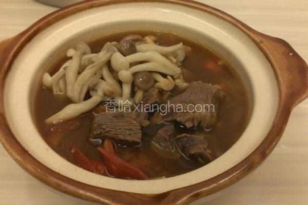 双菇番茄牛腩汤