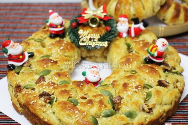 圣诞花圈咖哩面包