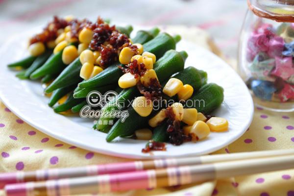 红葱肉酱拌秋葵