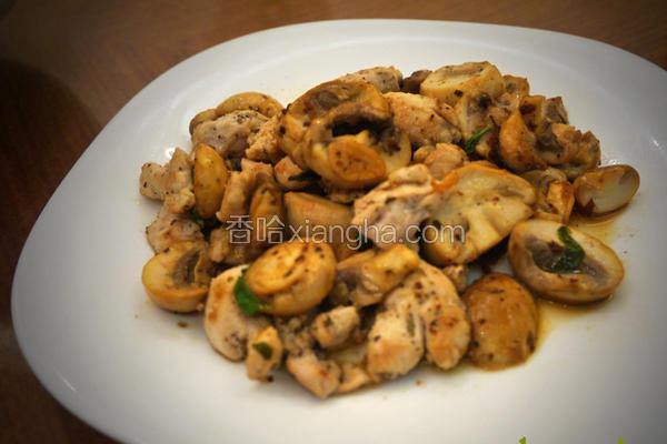 蒜片柠香蘑菇鸡丁