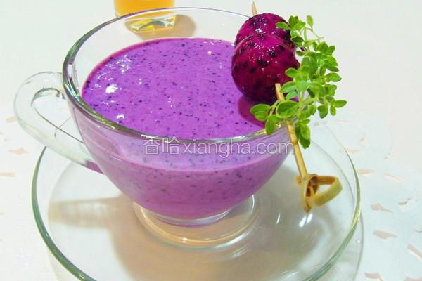 火龙果蓝莓汁