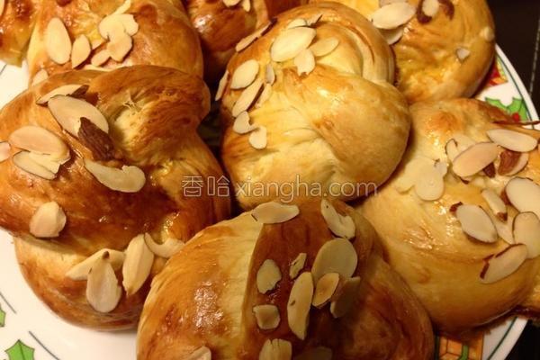 杏仁奶油面包的做法