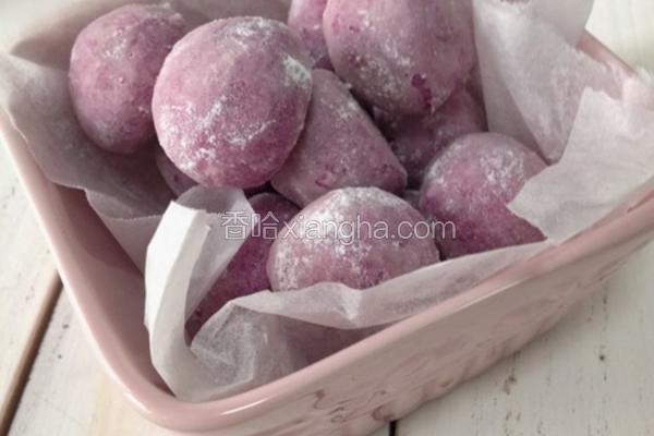 紫薯雪球曲奇